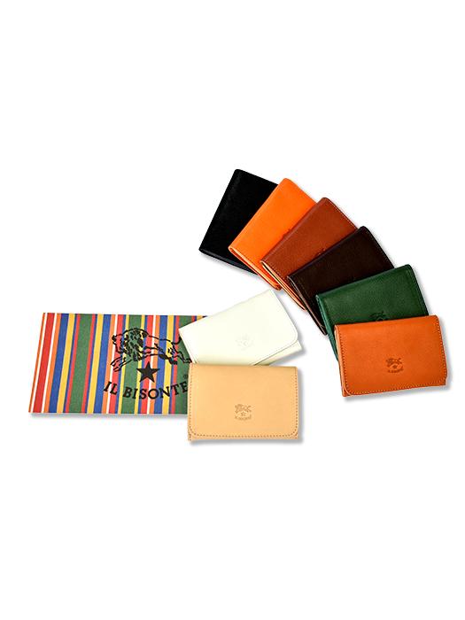 イルビゾンテ【カードケース(名刺入】シンプルなデザインでカラバリ豊富。