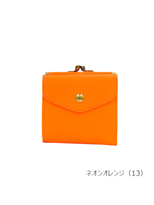 IL BISONTE イルビゾンテ【折財布 54212307740】 ネオンオレンジ