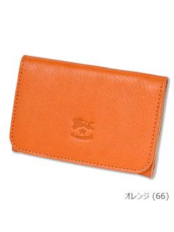 イルビゾンテ【カードケース(名刺入)】オレンジ。