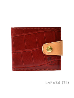 IL BISONTE イルビゾンテ【54182307140 折財布【JAPAN EXCLUCIVE】レッド×ヌメ】