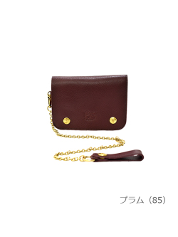 IL BISONTE イルビゾンテ【折財布 54182310040】プラム