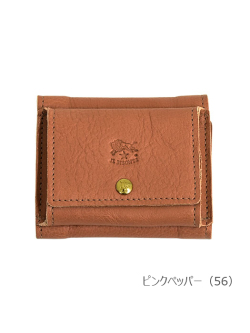 IL BISONTE イルビゾンテ【折財布 54202312240】 ピンクペッパー