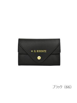 IL BISONTE イルビゾンテ【カードケース 54212304593】 ブラック
