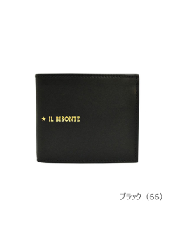 IL BISONTE イルビゾンテ【折財布 54212307340】 ブラック