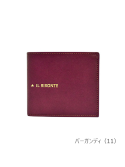 IL BISONTE イルビゾンテ【折財布 54212307340】 バーガンディ